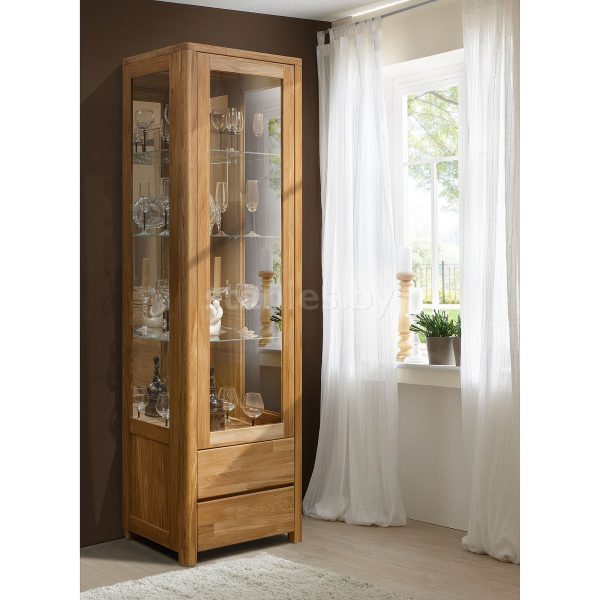 Шкаф с витриной Лозанна 1С